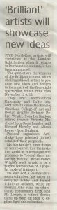 Richard and Alison in the Durham Advertiser